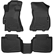 Husky Liners 99671 Black Weatherbeater Front & 2nd Seat Floor Liners Fits 2015-2019 Subaru Legacy, 2015-2019 Subaru Outback