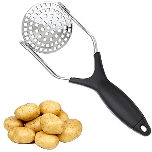 Prensa Patatas, Trituradora de Patata, Machacador de Patatas, Prensador Patatas Acero Inoxidable, Mango Antideslizante, Fruta Acero Inoxidable Utensilio de Cocina, Para Patatas Vegetales Frutas