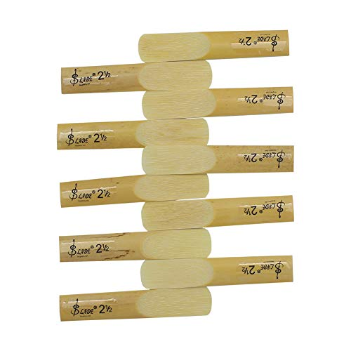 Alomejor 10 Stücke Sax Reed Alto bE Saxophon Lade Bamboo 2-1/2 Blätter Stärke 2,5 für Saxophon Ersatzblatt