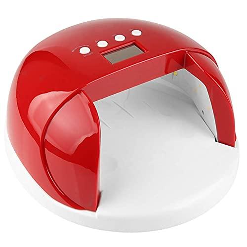 FRlss Lámpara de uñas LED para el salón de hogar, secador de uñas Herramientas de Arte de uñas Profesional con 4 TEMPORIZADORES Ajuste AUTOMÁTICO Sensor Cuadro CUCTURA Lámpara de curado, Rojo