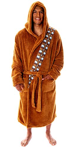 Star Wars Chewbacca Robe Costume Fleece Plush Chewie Robe Brown