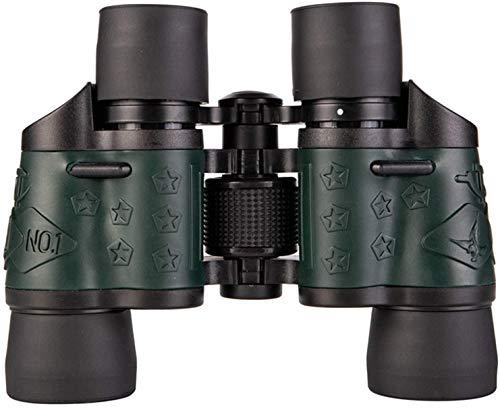 YUYANDE Binoculares Azules, binoculares para la Caza Lente Grande HD Gran ángulo Binoculares Profesionales Fac Fac Focus Ligero Super Brillante Campo de visión para observar Aves, Caza al Aire Libre