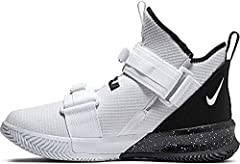 High-top silhouette with extended tongue for support and classic style. Dual straps with Velcro and pull-tab tightening for secure lockdown. Mesh upper breathes, flexes, and lets you trust your feet to stay centered. Zoom Air and foam sole create maj...