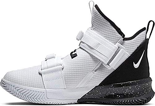 Nike Lebron Soldier XIII SFG TB Basketball Shoe, CN9809-113 (12 M US, White/Black)