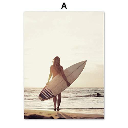 Puzzle 1000 Piezas Tabla De Surf De Playa Y Patrón De Belleza Diy Rompecabezas De Madera Regalo Único Estilo De Decoración Del Hogar
