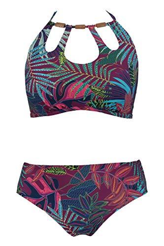 Ulla Popken Damen große Größen Bikini Multicolor 54 727619 90-54