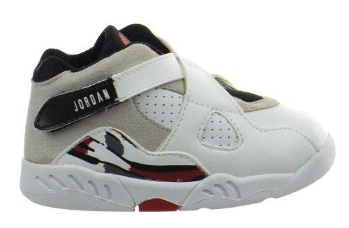 Jordan 8 Retro (TD) Baby Toddlers Shoes White/Black-True Red 305360-193-8