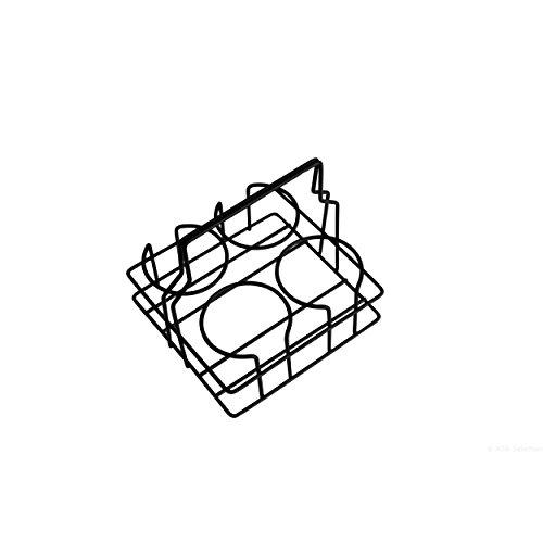 ASA Xmas Becherhalter für Cappuccinobecher, Metall, Schwarz, 17.5 x 17.5 x 17 cm