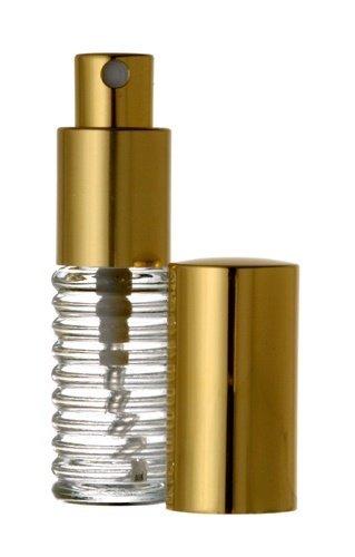 Riverrun Small Travel Perfume Atomizer Empty Refillable Glass Bottle Gold Sprayer 1/4 oz 7.5ml (1 Bottle)
