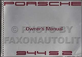 1991 Porsche 944 Owner's Manual Original