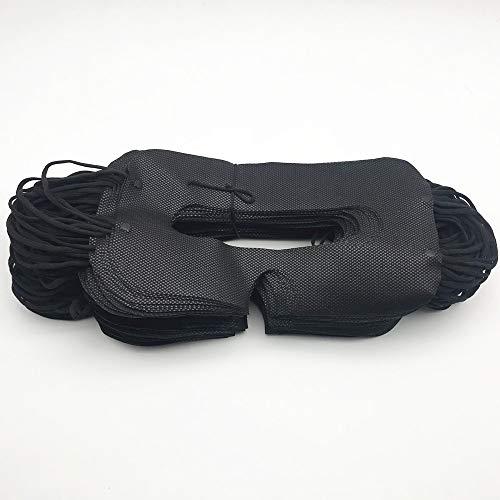 100 Pack Sanitary VR Mask Disposable Face Cover Mask Hygiene VR Pads Prevent Eye Infections for HTC Vive, PS VR, Gear VR Oculus Rift, etc. (Black)