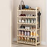 Equipo para el hogar Zapatero de madera Armario de 7 niveles Entrada de almacenamiento Estante para zapatos Ahorro de espacio Soporte para zapatos Organizador de estante de almacenamiento duradero