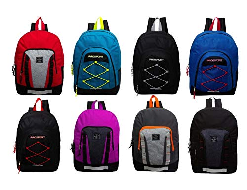 24 Pack - 17' Mixed Bulk Backpacks (Assorted Styles) - Wholesale Case of Bookbags
