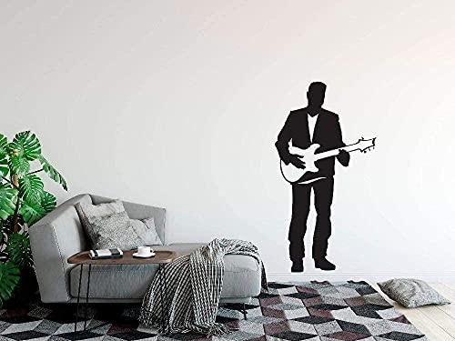 Calcomanía de pared para guitarra eléctrica, diseño de...
