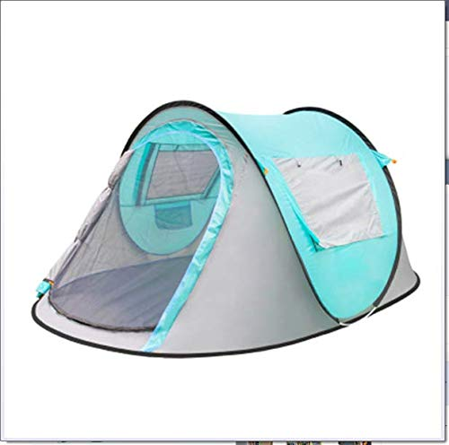 DiaTech Pop Up Tent 3-4 Person Waterproof Camping Tent Also Ideal for Camping in The Garden, Lightweight Camping And Hiking Tent,Blue