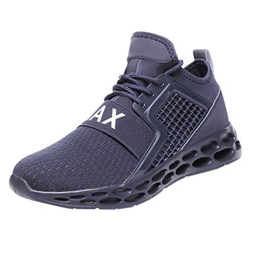 HETde Herren große hohe elastische aushöhlen Turnschuhe gewebt lässig Laufschuhe Bottom Sneakers