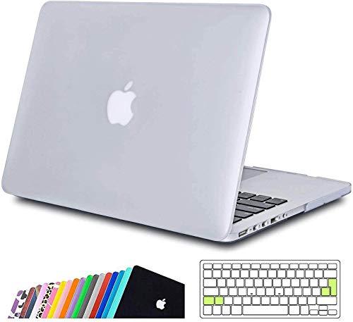 iNeseon Coque Macbook Pro 13 Retina, Étui de Protection Rigide avec Couverture de Clavier pour 2012-2015 MacBook Pro 13 Pouce Modèle A1502 et A1425 (Taille 31,4 x 21,9 cm),Gris