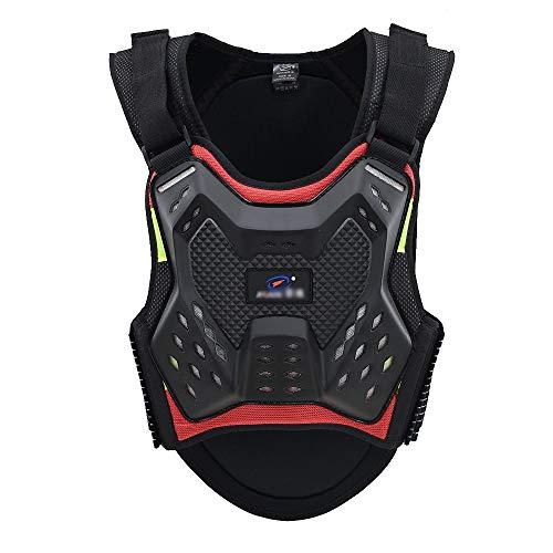 XEPAJS Adultos Moto Chaqueta Chaleco Armor Dorsal Protector de Motocicleta para Protección...