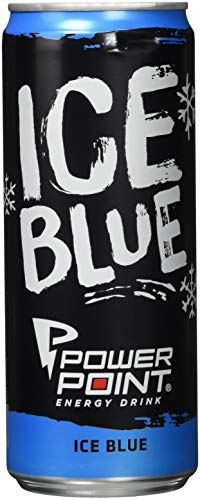 Power Point Energy Drink Ice Blue, 24er Pack, EINWEG (24 x 330 ml)