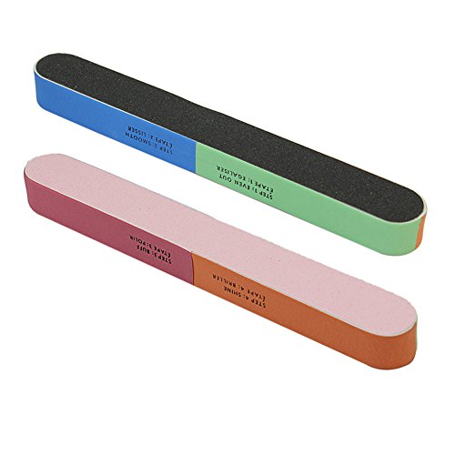 2 pièces à ongles soins manucure tampon bloc de ponçage fichier Art Salon éponge