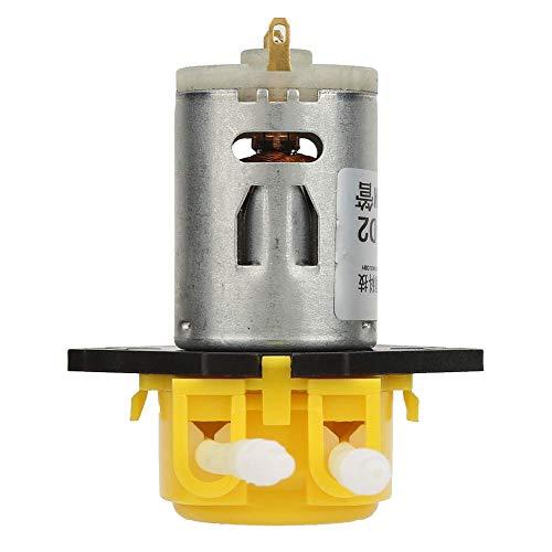 FHISD Bomba de líquido peristáltica, fácil de Instalar, Tubo de Silicona DC12V Bomba peristáltica de líquido de diseño sin Tornillos Amarillo, para experimentos Análisis bioquímico