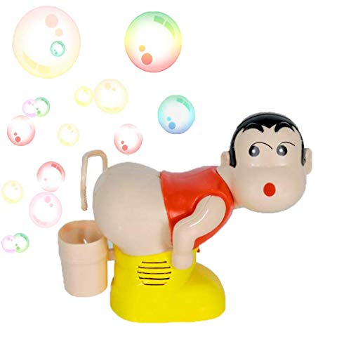iBccly Bubble Maker Toy, The Funny Music Automatic Fart Bubble Blower- Boy Stick Blower Machine with LED Flashing Lights Bubble Machine Easy to Use