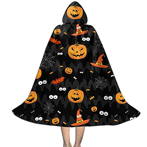 Halloween Funny Pumpkin Scary Kids Hooded Cloak Cape For Halloween Party Role Play Cosplay Costume For Kids Boys Girls