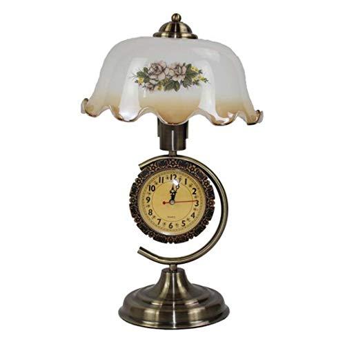 GJX Tafellamp, in Europese stijl, creatief met wekker, bureaulamp, kinderkamer, slaapkamer, nachtkastje, studeerkamer, decoratie, bureaulamp