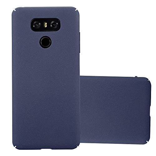 Cadorabo Custodia per LG G6 in FROSTY AZZURRO - Rigida Cover Protettiva Sottile con Bordo Protezione - Back Hard Case Ultra Slim Bumper Antiurto Guscio Plastica