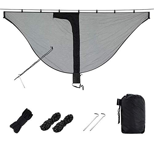 AYAMAYA Mosquito & Bug Net Fit for Any Camping Hammock, 360 Degree Protect You from Mosquitoes Insect in Outdoor, Easy Setup Noseeum Mesh Netting, Hammock Camping Lover Essential Accessories