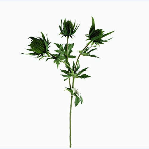 Floristrywarehouse Artificial Thistle Spray Artificial 26 Inches Green