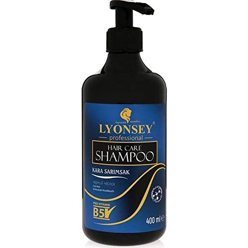 SCHWARZE KNOBLAUCH Shampoo - BLACK GARLIC SHAMPOO - KARA SARIMSAK Sampuan - 400ml gegen intensiven Haarausfall Wunder Aktar Natur Herbal Shampoo