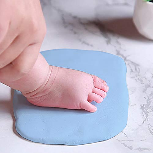 Air Dry Clay 150g Baby Footprint and Handprint kit Imprint Impression Keepsake Maker, Non-Toxic Clay,Large Clay,Food Grade Clay, Ultra Light,Soft, Easy to Make Dough Ideal Baby Gift, DIY Art Craft.