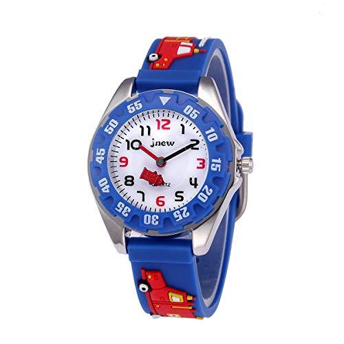 Reloj Digital para Niños Niña,Reloj de Cuarzo analógico a Prueba de Agua de 30 m, Reloj de Dibujos Animados en 3D, Reloj Digital para niños