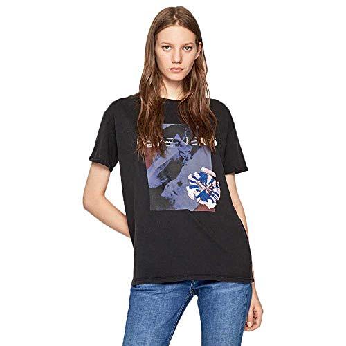 Pepe Jeans Meadow Camiseta, Gris (Infinity 985), Small para Mujer
