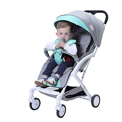 min min Cochecitos reclinados y sentados Carrera de bebé para bebés Ultra Light and Portable Baby Cart La colección de una tecla se Puede Plegar 0-3 años (Color: C) (Color : A)