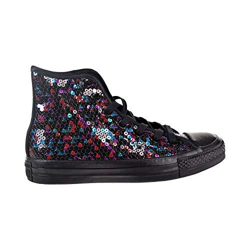 Converse M3310 Unisex Erwachsene High Sneakers Schwarz (schwarze Pailletten blau Kirschrot ), 35.5 EU