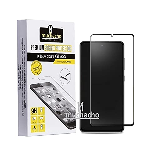 Muchacho Unbreakable Anti-Fingerprint Matte Finish Full Coverage Edge to Edge Tempered glass Screen Protector for Samsung Note 10 Lite/S10 Lite/A71 (11D Matte Transparent) | Better than Tempered Glass