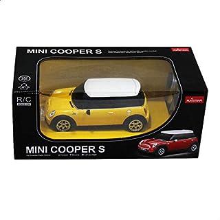 لعبة سيارة ميني كوبر اس بريموت كنترول من راستار- اصفر