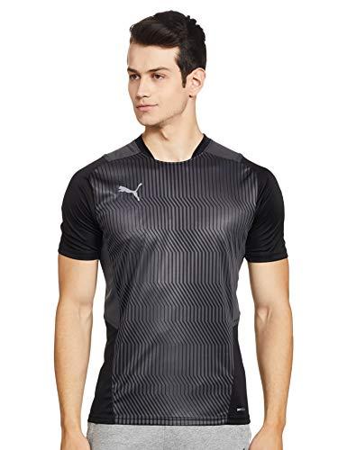 PUMA Herren, teamCUP Training Jersey T-shirt, Black-Smoked Pearl-Asphalt, XXL