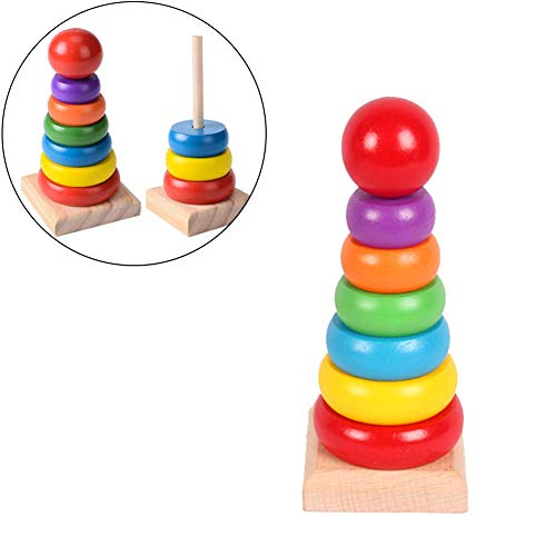ANNIUP Rainbow Stacker Juguete clásico,...