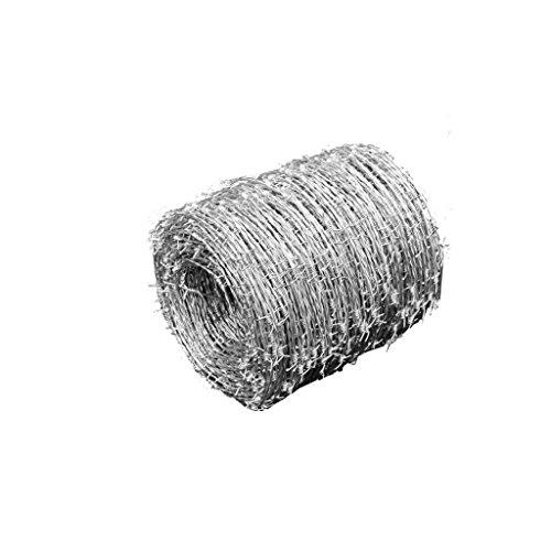Verzinkter Draht für Metallzäune, Zäune Eine Rolle mit 500 m extra starkem Doppeldraht verdreht mit 4 Spitzen