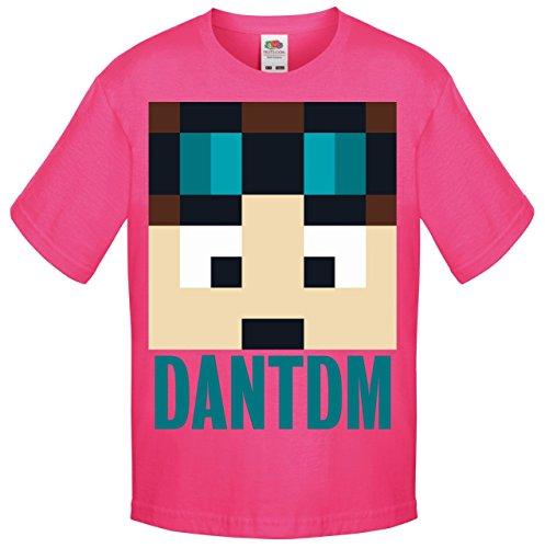 One Stop Kids - Camiseta de manga corta - para niño rosa Dan TDM Pink