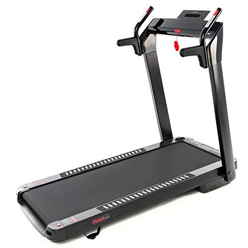 Fuel Fitness LB100 Laufband für zuhause, Ultra-Slim Laufband elektrisch, klappbar mit Steigung, 14 km/h, KEIN Aufbau, 130x48cm Lauffläche, APP-kompatibel, Pulsgurt inkl.