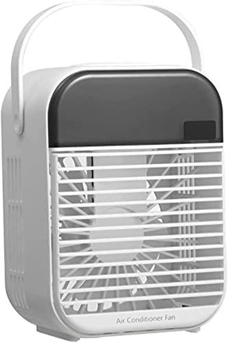 wangYUEQ Portatile Air Cooler Desktop Super Silenzioso Mini Aria Condizionatore Ice Air Air Fan per la casa per Ufficio (Colore: Bianco, Dimensioni: Batteria) (Color : White, Size : USB)
