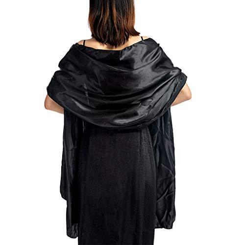 luosh Womens sjaals wikkel sjaal hol uit haak bloemen kant franje kwasten bruiloft Cape avond partij vintage sjaal