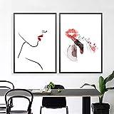 Minimalistische Wand Bilder Make-up Lippenstift Poster Hd