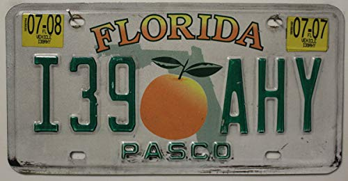 Original USA Nummernschild FLORIDA , Autokennzeichen US License Plate , Motiv-Schild