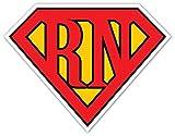 Superman Inspired Logo Superman Shield For Registered Nurses RN Cool Design Emblem Seal Vinyl Decal Bumper Sticker 5' X 5' ( inches )