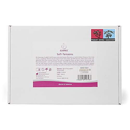 Elanee 742-V1 Soft-Tampons, rosa, 10 Stück